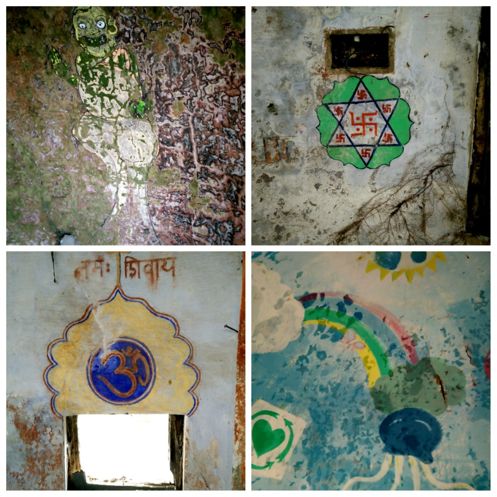 Beatles ashram paintings inside meditation capsule