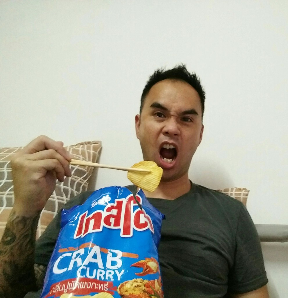 Eating Thailand Potato Chips