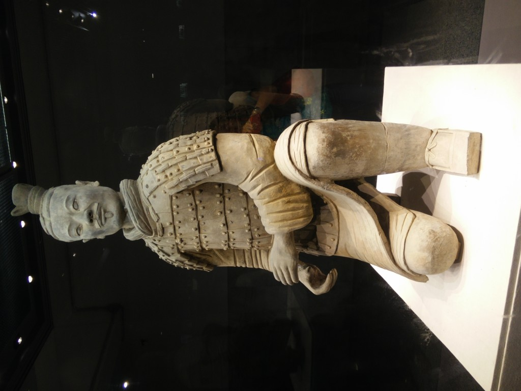"The poster boy of the Terracotta Army.  This ""Kneeling Archer"" was the only piece that was unearthed fully intact."