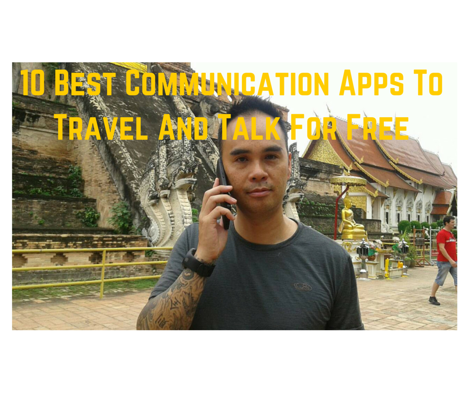 Communication, talk and text apps for travel